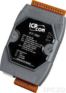 ET-7002 Модуль ввода-вывода, 3 канала аналогового ввода / 6 каналов дискретного ввода, мокрый контакт / 3 канала дискретного вывода, реле тип А