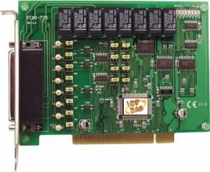 PISO-725 PCI адаптер 8DI, 8 реле с гальванической изоляцией, разъем CA-4002x1
