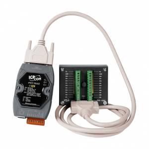 PET-7018Z-G/S2 Модуль ввода-вывода, 10 каналов аналогового ввода или сигнала с термопары: J. K. T. E. R. S.B. N. C. L. M, L(DIN)43710 / 6 каналов дискретного вывода , защита от перенапряжения, DN-1822 и 1,8 м кабель. PoE