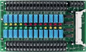 DB-24R/12 Выносная плата 24 реле (12В) с перекидными контактами(120Vac@0.5A,60Vdc@1A), совместима с Opto-22