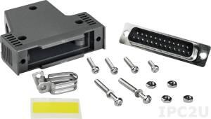 CA-PC25M Коннектор 25-pin Male D-sub, спластиковым корпусом, до 50В