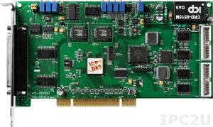PCI-1802LU Многофункциональный адаптер PCI, 32SE/16D каналов АЦП, FIFO, 2 канала ЦАП, 16DI, 16DO, таймер, разъем CA-4002