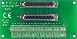 DN-37/N-A Плата клеммников с разъемом DB-37, без крепления на DIN-рейку, кабель CA-3710A (37-pin Male-Female D-sub 1.0 m)