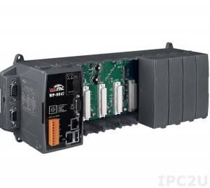 WP-8847-EN PC-совместимый промышленный контроллер PXA270 520МГц, 128Mб SDRAM, 96Mб Flash, 2xRS-232, 1xRS-485, 1xRS-232/485, 2xEthernet, 8 слотов расширения, Win CE 5.0, ISaGRAF 3.5