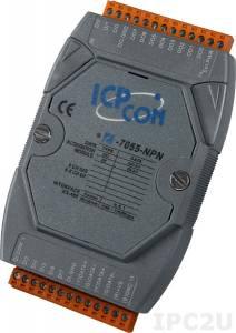 I-7055D-NPN Модуль ввода - вывода, 8 каналов дискретного ввода / 8 каналов дискретного вывода, с изоляцией до 3750В и индикацией