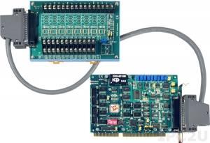 A-823PGH/S Многофункциональный адаптер ISA, 16SE/8D каналов АЦП, 2 канала ЦАП, 16DI, 16DO, таймер, плата клеммников DB-8225 и кабель CA-3710