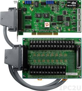 PCI-1602U/S Многофункциональный адаптер Universal PCI, 32SE/16D каналов АЦП, FIFO, 2 канала ЦАП, 16DI, 16DO, таймер, разъем СА-4002x1, плата клеммников DB-1825