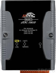 uPAC-5001P PC-совместимый промышленный контроллер 80MHz, 512KB Flash, 512KB SRAM, 16KB EEPROM, 31B NVRAM, microSD, 1xRS232, 1xRS485, 1xFastLAN PoE, 12-48 VDC