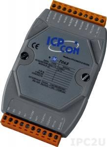 M-7065 Модуль ввода - вывода, 5 каналов мощного релейного вывода / 4 канала дискретного ввода, c изоляцией до 3750 В, Modbus RTU