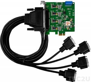 VEX-114/D2 PCI Express адаптер 4xRS-232 115.2кбод, кабель CA-9-3715D