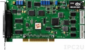 PCI-1802HU Многофункциональный адаптер Universal PCI, 32SE/16D каналов АЦП, FIFO, 2 канала ЦАП, 16DI, 16DO, таймер, разъем CA-4002