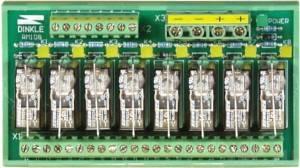 RM-108 Выносная плата 8 силовых реле для монтажа на DIN-рейку(250Vac@16A)