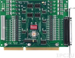 ISO-P32S32W 64-канальный ISA адаптер дискретного ввода-вывода (32DI, 32DO) с гальванической изоляцией, кабель CA-4037W, разъем CA-4002x2