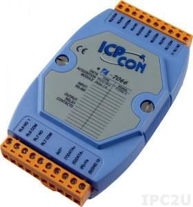 I-7066 Модуль вывода, 7 каналов вывода с фотоМОП реле, c изоляцией до 5000 В