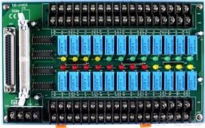 DB-24RD/12/DIN Выносная плата 24 реле (12В) с перекидными контактами(120Vac@0.5A,60Vdc@1A), совместима с Opto-22, разъем DB37, монтаж на DIN-рейку