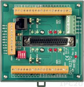 DN-8237GB Опто-изолированная выносная плата, универсальная, для подключения сервоприводов, двигателей к управляющему модулю, компьютерной плате ICP DAS, для систем управления движением, 0.5 A /24 VDC, без активных элементов