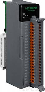 I-87026PW Высокопрофильный модуль ввода-вывода, 6 каналов аналогового ввода, 2 канала аналогового вывода, 2 канала дискретного ввода, 2 канала дискретного вывода, последовательная шина