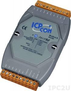 M-7017RC Модуль ввода, 8 каналов аналогового ввода, -20...+20 mA, защита от перенапряжения, Modbus RTU