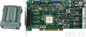 PCI-1202HU/S Многофункциональный адаптер PCI, 32SE/16D каналов АЦП, FIFO, 2 канала ЦАП, 16DI, 16DO, таймер, разъем СА-4002x1, плата клеммников DB-1825