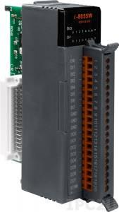 I-8055W Высокопрофильный модуль ввода - вывода, 8 каналов дискретного ввода, сухой контакт / 8 каналов дискретного вывода, открытый коллектор, без изоляции, параллельная шина