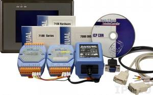 IKIT-08 Touch 200 + I-7188D/DOS + I-7060 + DIN-KA52F, С комплектом драйверов NAP