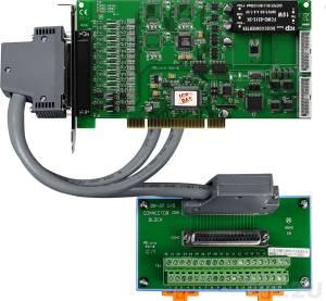 PISO-DA4U/S Адаптер Universal PCI 4 каналов ЦАП, изоляция, разъем СА-4002, плата клеммников DN-37 и кабель СА-3710