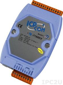 I-7188EX-MTCP PC-совместимый промышленный контроллер 40МГц, 512кб Flash, 512кб SRAM, Ethernet, 1xRS232, 1xRS485, Modbus TCP, кабель CA-0910x1