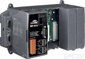WP-8431-EN PC-совместимый промышленный контроллер PXA270 520МГц, 128Mб RAM, 128Mб Flash, 2xRS-232, 1xRS-485, 1xRS-232/485, 2xUSB, 2xEthernet, 4 слота расширения, Win CE 5.0