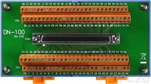 DN-100 Плата ввода-вывода SCSI II female 100-pin, монтаж на DIN-рейку, до 50В