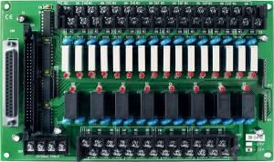 DB-24PRD/12 Выносная плата 24 силовых реле (12В)(270Vac/150Vdc@5A), совместима с Opto-22, разъем DB37