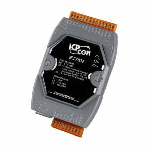ET-7024 Модуль ввода-вывода, 4 канала аналогового вывода / 5 каналов дискретного ввода / 5 каналов дискретного вывода