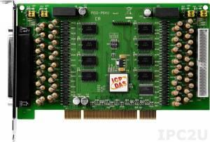 PISO-P64U-24V Universal PCI адаптер 64DI с гальванической изоляцией, кабель CA-4037x1, разъем CA-4002x2