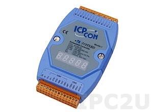 I-7188XBD-512 PC-совместимый промышленный контроллер 40МГц, 512кб Flash, 512кб SRAM, шина расширения, 1xDI/1xDO, 1xRS485, 1xRS232/485, 7-сегментный индикатор, MiniOS7, кабель CA-0910x1