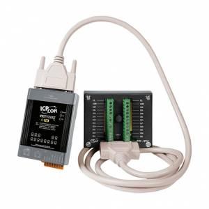 PET-7218Z/S2 Модуль ввода-вывода, 10 каналов ввода сигнала с термопар / 5 каналов дискретного вывода, 2xEthernet, PoE, DB-1822 плата, кабель 1.8м