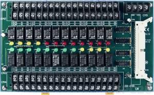 DB-24R/24/DIN Выносная плата 24 реле (24В) с перекидными контактами(120Vac@0.5A,60Vdc@1A), совместима с Opto-22, монтаж на DIN-рейку