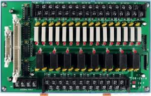 DB-24PR/24/DIN Выносная плата 24 силовых реле (24В)(270Vac/150Vdc@5A), совместима с Opto-22, монтаж на DIN-рейку