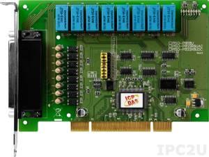 PISO-P8R8U Universal PCI адаптер 8DI, 8 реле с гальванической изоляцией, разъем CA-4002x1