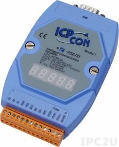 I-7521D Адресуемый преобразователь RS-485 в RS-232/485 с индикацией и гальванической изоляцией, кабель CA-0910Fx1