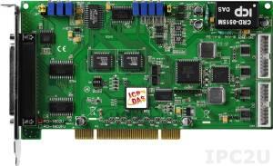 PCI-1602U Многофункциональный адаптер Universal PCI, 32SE/16D каналов АЦП, FIFO, 2 канала ЦАП, 16DI, 16DO, таймер, разъем СА-4002x1
