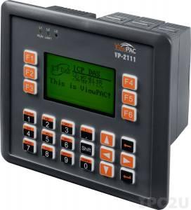 VP-2111 Промышленный панельный контроллер ViewPAC, дисплей 128х64 точек, процессор 80186-совместимый 80МГц, 768 Кб SRAM, 512 кб Flash, Ethernet, MiniOS7