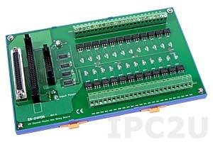 DB-24POR/D/DIN Выносная плата 24 изолированных выхода с фотоМОП реле, совместима с Opto-22, монтаж на DIN-рейку