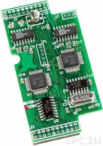 X502 Модуль 2xRS-232, 4-проводный и 2-проводнный интерфейс, для I-7188XC