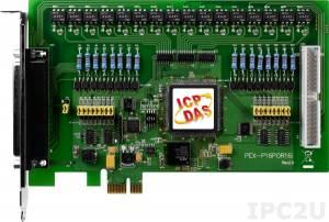 PEX-P16POR16i PCI Express X 1 адаптер 16DI с гальванической изоляцией, 16 реле