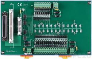DB-24OD/DIN Выносная плата 24 дискретных выходов DC с изоляцией, совместима с Opto-22, монтаж на DIN-рейку