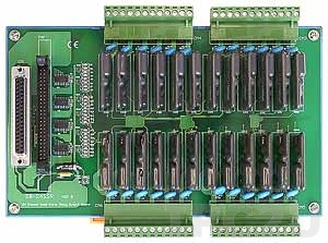DB-24SSRDC Выносная плата 24 твердотельных реле(50Vdc@4A), совместима с Opto-22, DC