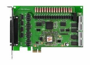 PEX-730 PCI Express x 1 адаптер 16DI, 16DO с гальванической изоляцией, 16DI, 16DO TTL без изоляции